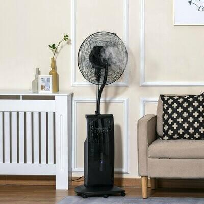 HOMCOM® Standventilator mit 3,1 Liter Wasserzerstäuber Ventilator Höhe 135 cm 3 Modi Klimaanlage