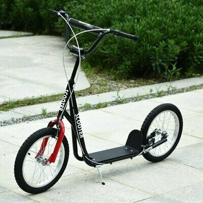 HOMCOM® Tretroller Scooter Cityroller Kinder Luftreifen Roller verstellbar Alu Schwarz