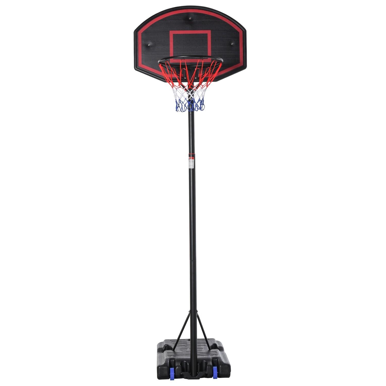 HOMCOM® Basketballständer Basketballkorb Ständer mit 2 Rädern 262-310 cm verstellbar