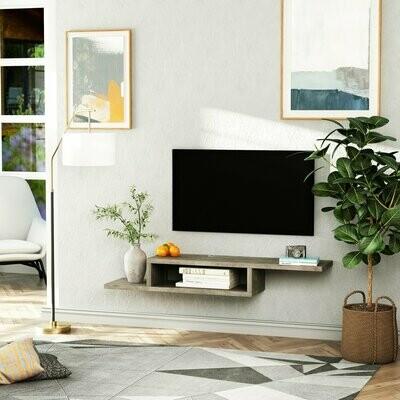 HOMCOM® TV Hängeschrank Lowboard Hängeboard Fernsehschrank Zementgrau