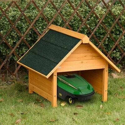 Outsunny® Holzgarage für Rasenmäher Roboter Mähroboter Garage Carport für Rasenroboter