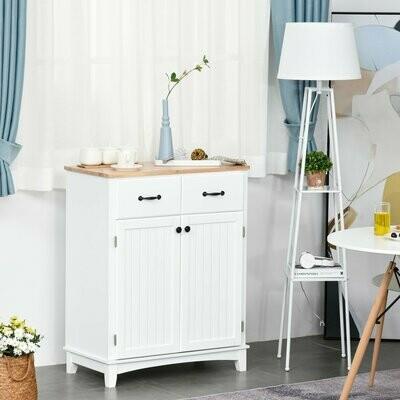 HOMCOM® Küchenschrank Sideboard mit 2 Schubladen Ablage verstellbar Aufbewahrungsschrank