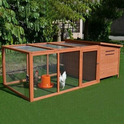 PawHut® PawHut® Hühnerstall Hühnerhaus Geflügelstall Kleintierkäfig mit Nistkasten Eierkiste- auch als Hasenstall verwendbar