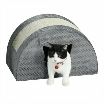 PawHut® Katzenhöhle mit Kraztbrett Katzenbett Kratzhaus Katzenwohnung Katzenhaus Sisal