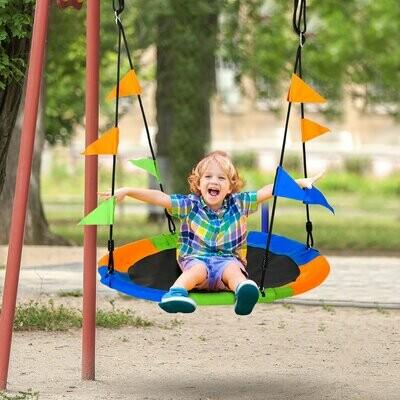 Outsunny® Nestschaukel Tellerschaukel Kinderschaukel Gartenschaukel bis 150 kg belastbar