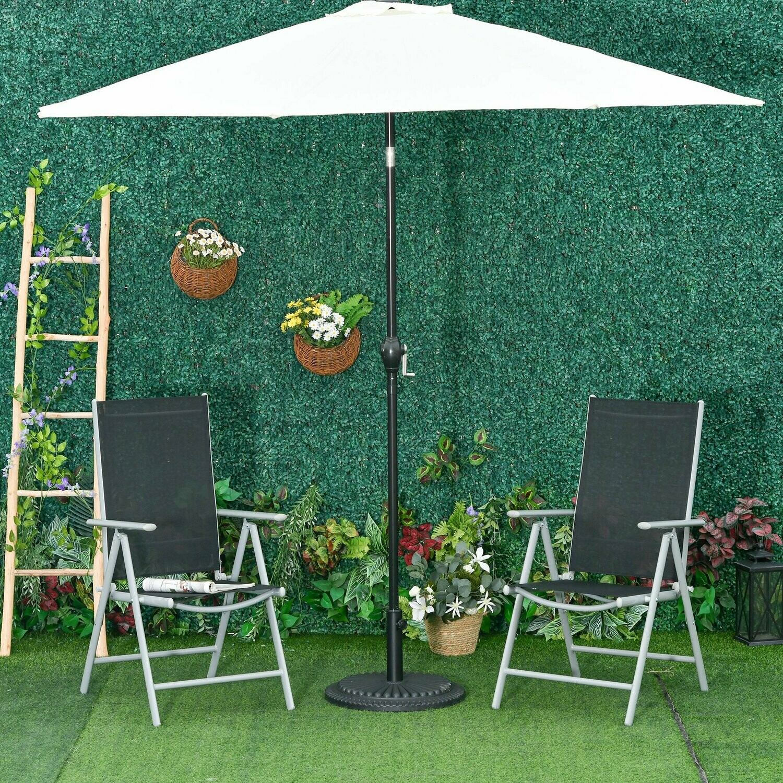 Outsunny® 2er Set Gartenstühle Alu Klappsessel mit Armlehnen verstellbare Hochlehne