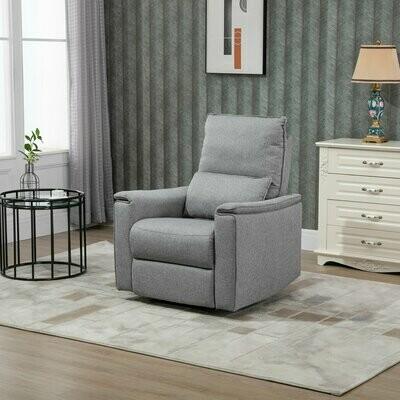 HOMCOM® Relaxsessel Liegesessel TV Sessel Einzelsofa 150° neigbar Leinen-Touch Grau