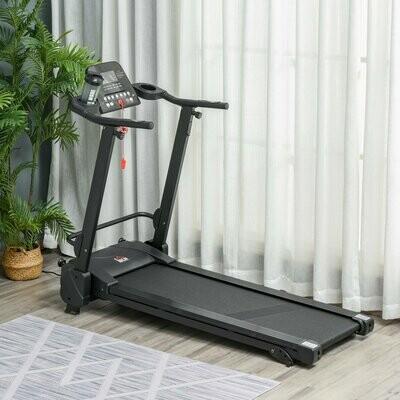 HOMCOM® Elektrisches Laufband mit LCD-Display Faltbares Fitnessgeräte 1-14Km/h Stahl