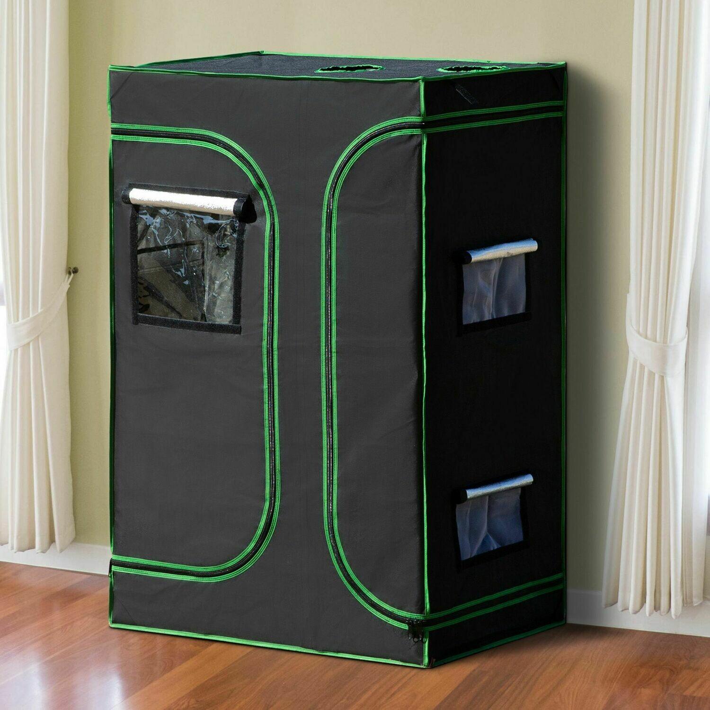 Outsunny® Growbox Growzelt 90x60x135cm Gewächshaus Pflanzen 600D Oxford Tuch Stahl