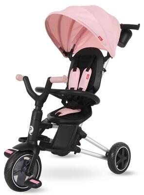 QPlay Dreirad Nova 4-in-1 Girls Schwarz / Pink Kinderwagen Buggy