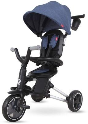 QPlay Dreirad QPlay Dreirad Nova 4-in-1 Jungen Schwarz / Blau Kinderwagen Buggy