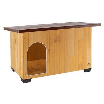 Ferplast Hundehütte Baita 140 x 85,5 87 cm Holz braun