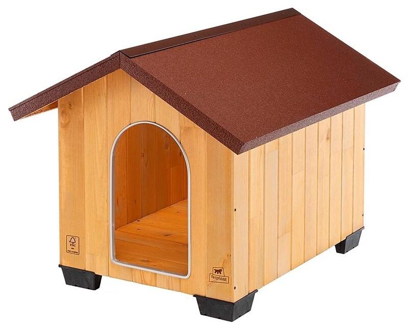 Ferplast Hundehütte Domus Maxi 81 x 101 x 78 cm Holz braun/beige