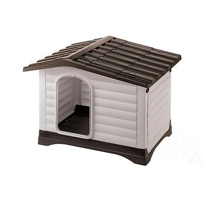 Ferplast Hundehütte Katzenhaus Dogvilla 73 x 59 cm schwarz/weiss