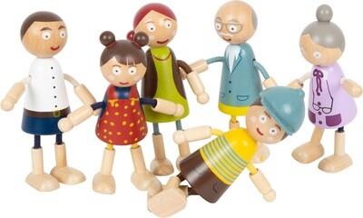 Small Foot Biegepuppen-Familie aus Holz