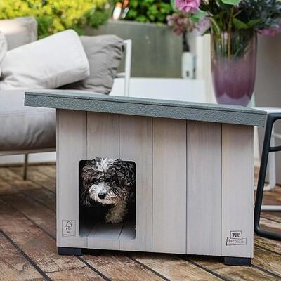 Ferplast Hundehütte Argo 60 69,5 x 54,5 cm Holz grau
