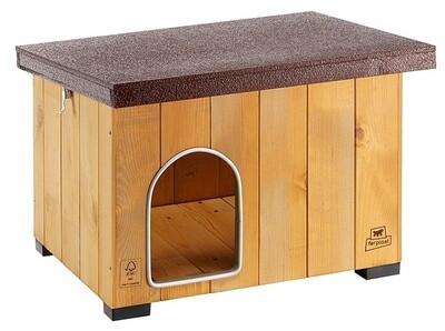 Ferplast Hundehütte Baita 56 x 46,5 cm Holz natur/braun