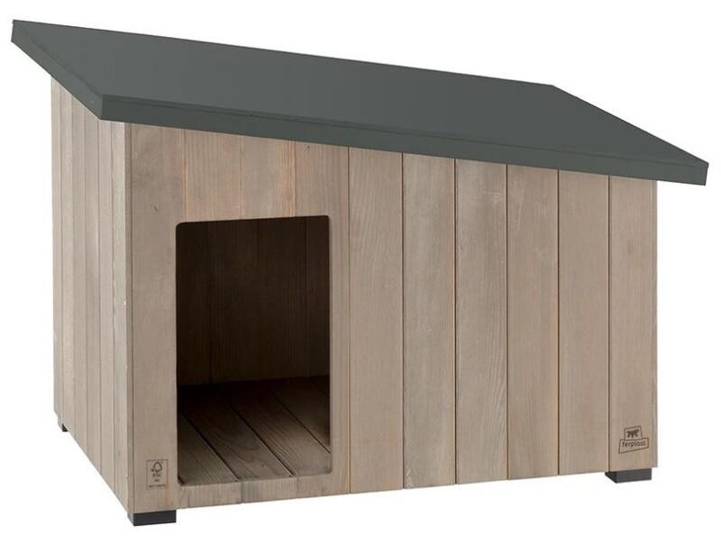 Ferplast Hundehütte Argo 80 95,5 x 62,5 cm Holz grau