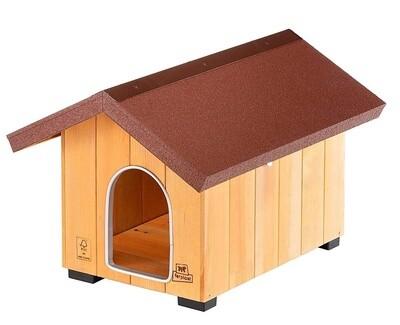 Ferplast Domus Mini Hundehütte 49 x 64 cm Holz natur / braun