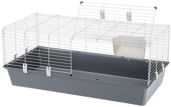 Ferplast Hasenkäfig Kaninchenstall 118 x 58,5 x 49,5 cm grau Hasenstall