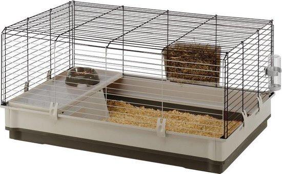 Ferplast Hasenstall Kaninchenstall Käfig 100 x 50 cm Stahl grün / weiss
