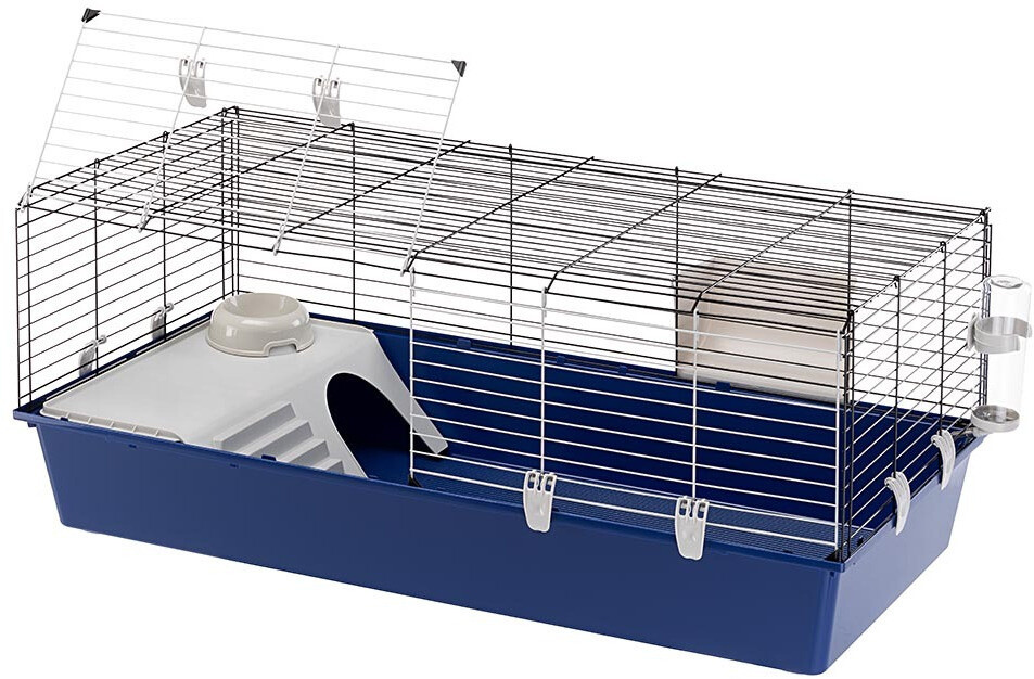 Ferplast Hasenstall Kaninchen-Käfig Rabbit 118 x 58,5 cm Stahl blau/weiss
