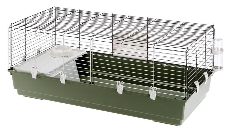 Ferplast Hasenstall Kaninchen-Käfig Rabbit 118 x 58,5 cm Stahl grau/weiß