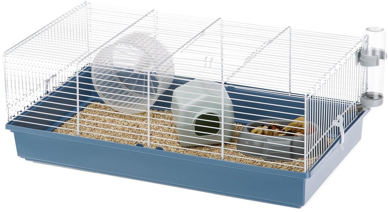 Ferplast Nagetierkäfig Hamsterkäfig Criceti 57,5 x 31 cm Stahl blau / weiß