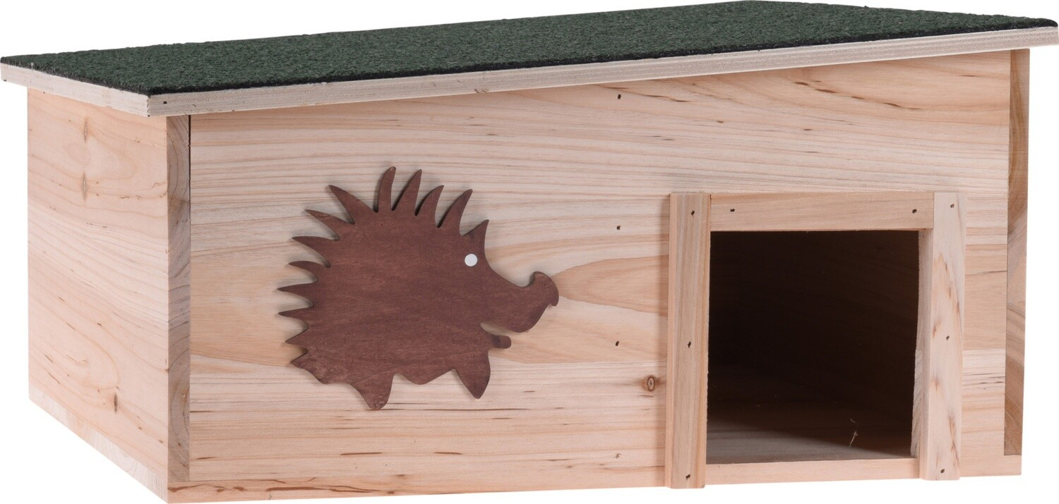 Pets Collection Igelhaus 37,5 x 37,5 cm Holz natur