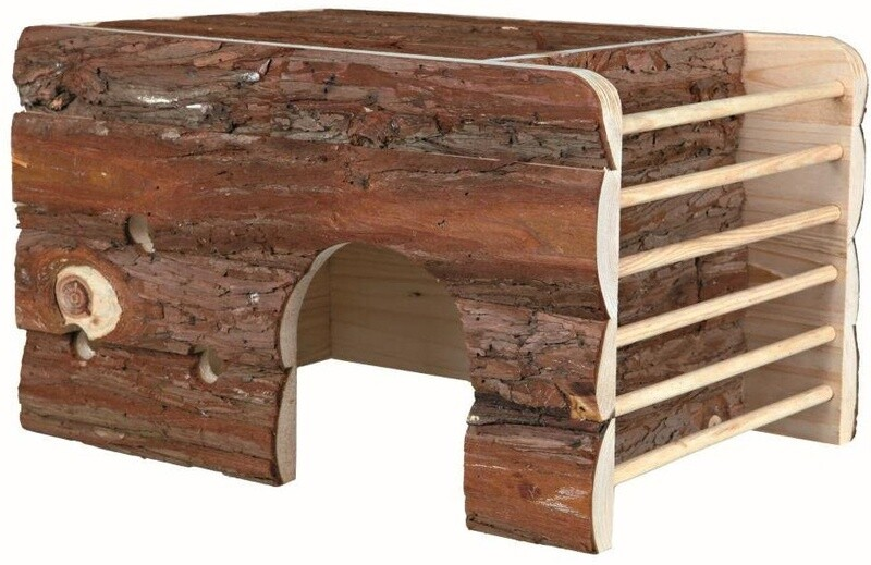Trixie Nagerhaus mit Heuraufe Ila 40 x 29 cm Holz dunkelbraun