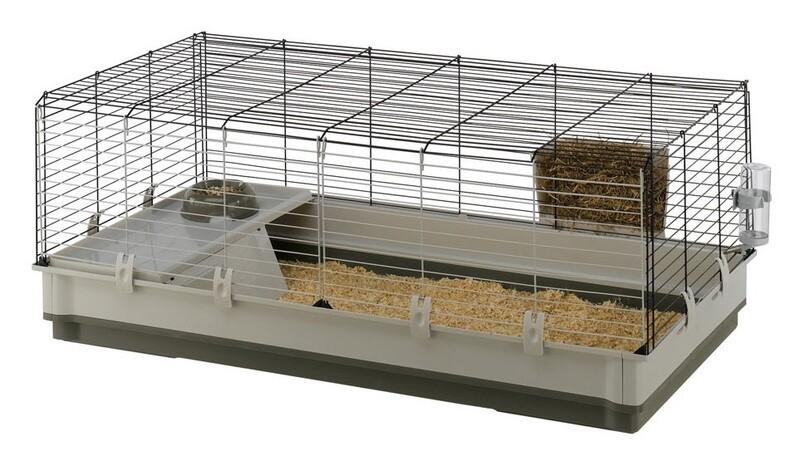 Ferplast Ferplast Hasenstall Kaninchen Käfig Krolik XL 120 x 60 cm Stahl grün/weiss
