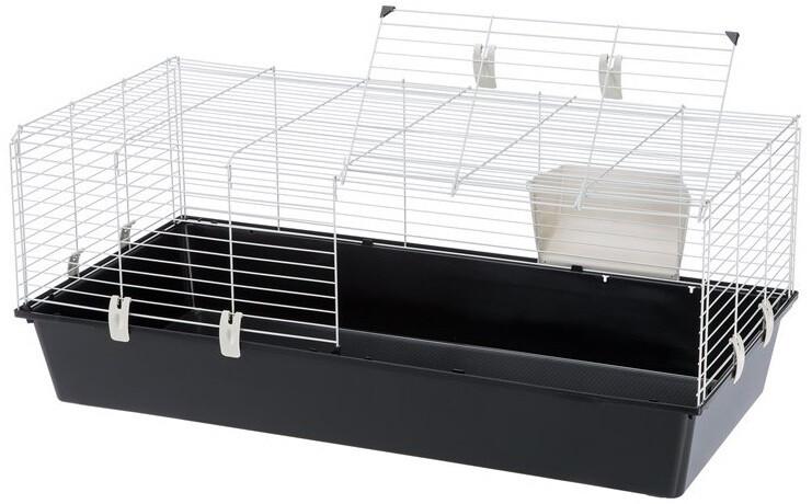 Ferplast Hasenstall Kaninchenstall Käfig 118 x 58,5 x 49,5 cm schwarz