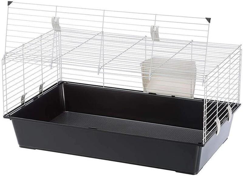 Ferplast Hasenstall Kaninchenstall Käfig El 100 95 x 57 x 40 cm schwarz