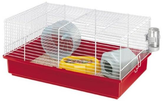 Ferplast Hamsterkäfig Criceti 46 x 29,5 x 22,5 cm stahlrot