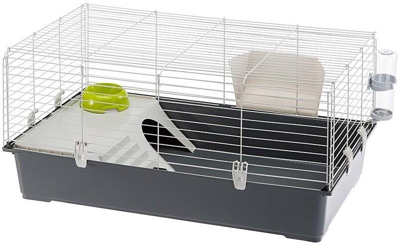 Ferplast Hasenstall Kaninchen Käfig 95 x 57 x 46 cm Stahl dunkelgrau