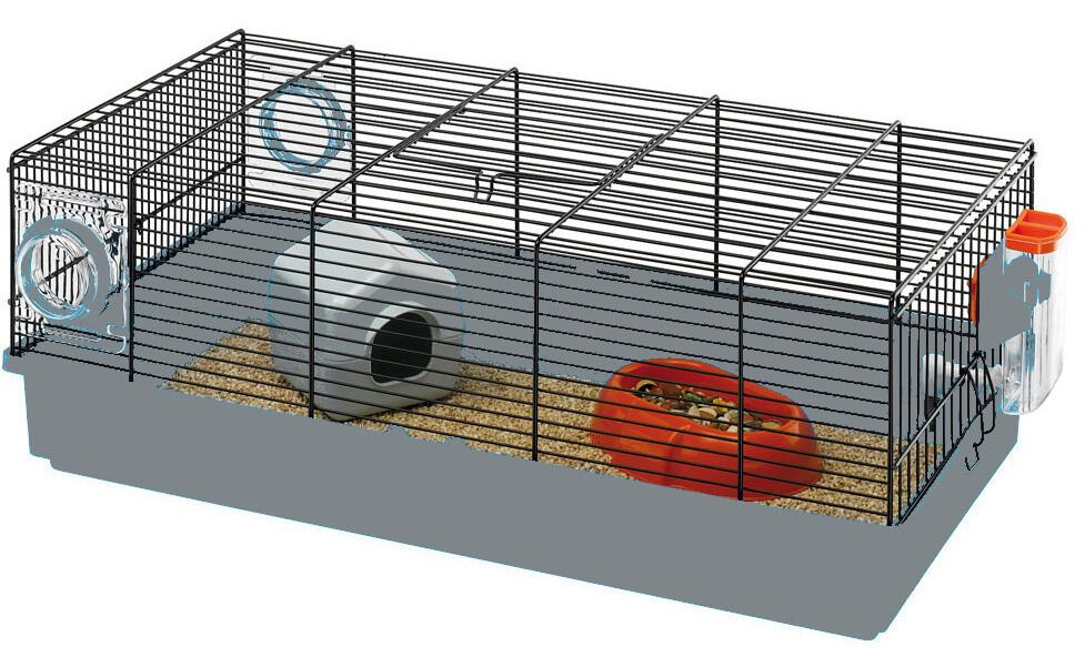 Ferplast Mäusekäfig Kora 58 x 31,5 x 20,5 cm Drahtgitter grau