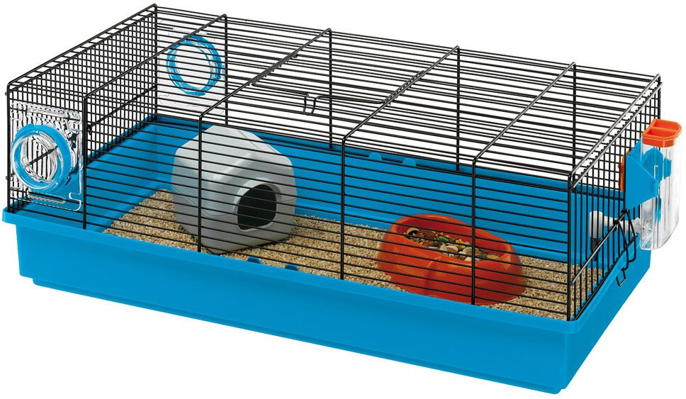 Ferplast Mäusekäfig Kora Kora 58 x 31,5 x 20,5 cm Drahtgeflecht blau