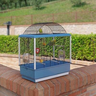 Ferplast Vogelkäfig Palladio 59 x 33 x 69 cm Stahl blau / schwarz