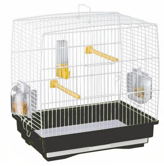 Ferplast Vogelkäfig Rekord 1 35,5 x 24,7 x 37 cm schwarz