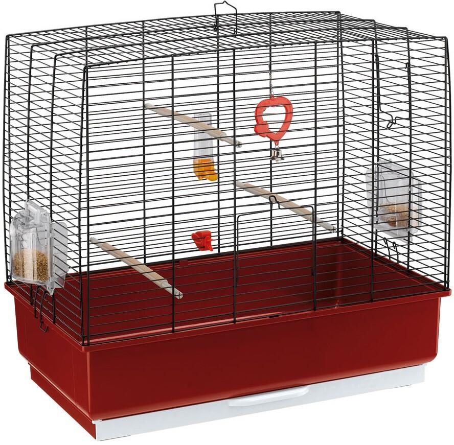 Ferplast Vogelkäfig Rekord-4 Stahl 60 x 32,5 x 57,5 cm schwarz