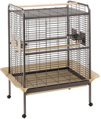 Ferplast Vogelkäfig Voliere Expert-100 Stahl 124,5 x 156 cm schwarz / braun Papageienkäfig