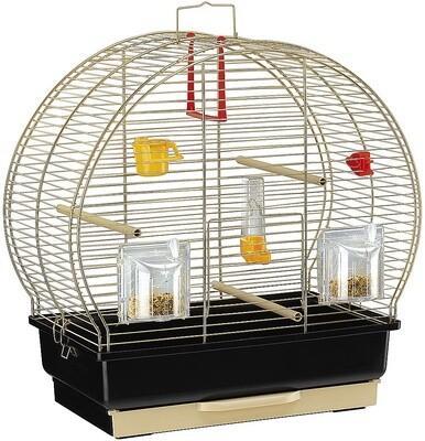 Ferplast Vogelkäfig Luna-2 Stahl 44,5 x 25 x 45,5 cm schwarz / gold