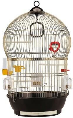 Ferplast Vogelkäfig BBali Antik 43,5 x 68,5 cm Stahl schwarz / gold