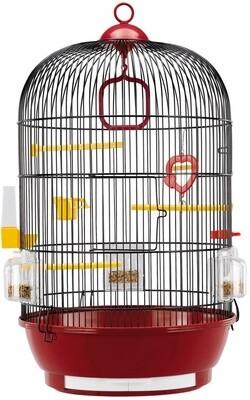 Ferplast Vogelkäfig Diva 40 x 65 cm Stahl rot