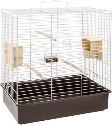 Ferplast Vogelkäfig Sonia 61,5 x 40 x 65 cm Stahl braun/weiss