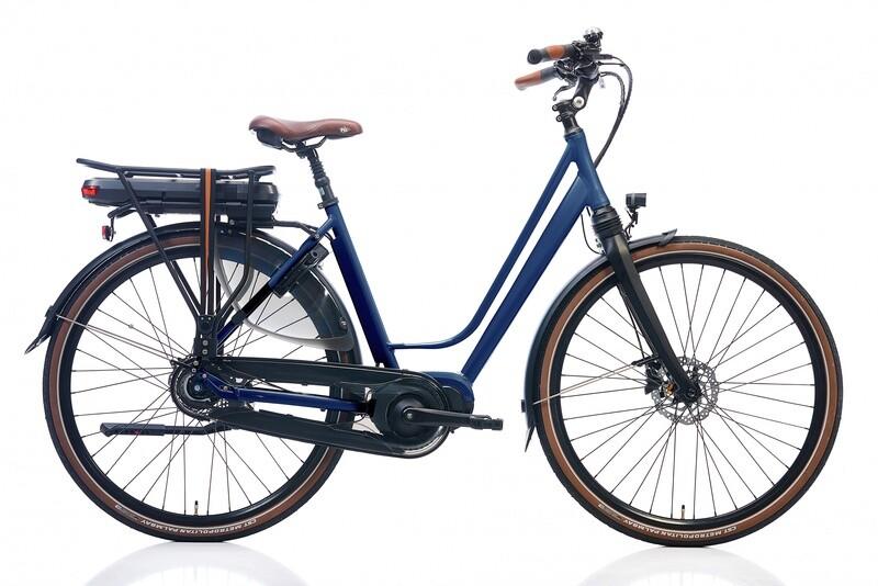 Damen E-Bike / Velo Kohlman Deluxe 28 Zoll 52 cm 8SP Hydraulische Scheibenbremse Dunkelblau