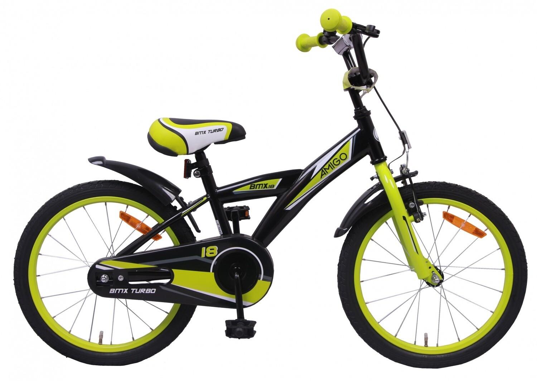 AMIGO BMX Fahrrad / Velo Turbo 18 Zoll Jungen Rücktrittbremse Schwarz