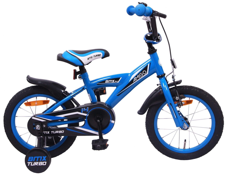 AMIGO BMX Fahrrad / Velo Turbo 14 Zoll Jungen Rücktrittbremse Blau