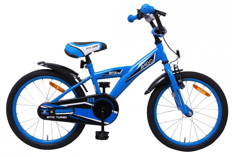 AMIGO BMX Fahrrad / Velo Turbo 18 Zoll Jungen Rücktrittbremse Blau