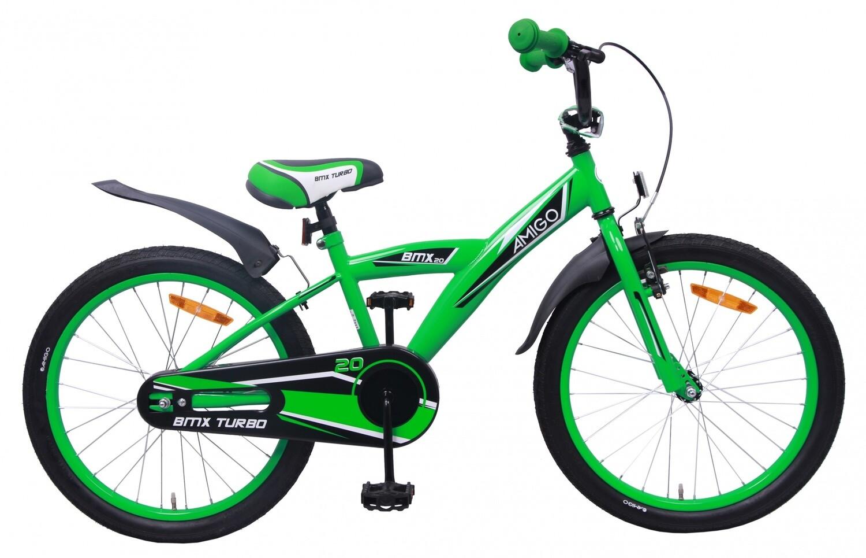AMIGO BMX Fahrrad / Velo Turbo 20 Zoll 29 cm Rücktrittbremse Grün